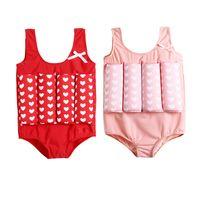 الأطفال مخطط نقطة طباعة ملابس السباحة الكرتون العائمة المايوه الحوت بيكيني أطفال قطعة واحدة ملابس السباحة مع الطفو فتاة بوي 5 قطع LLA744