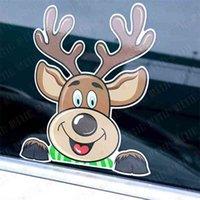 Feliz Natal bonito dos desenhos animados adesivos de adesivo de moda crianças santa elk carro decoração de vidro paster 20 * 15cm xams adesivos etiquetas etiquetas decoração de festa g97t9u2