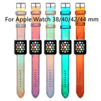 Designer Watchbands Strap per Apple Watch Band 42mm 38mm 40mm 44mm IWatch 5 4 3 2 Bands Cinturini in pelle Braccialetto Braccialetto Braccialetto Braccialetto Color-Changing Watchband all'ingrosso