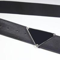 الأزياء الفاخرة مصمم أحزمة للنساء الرجال المعادن مثلث الأسود مشبك رجل إمرأة أحزمة جلدية الكلاسيكية الرجعية حزام عرض 4.0 سنتيمتر