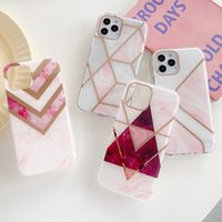 Plating Geometric Marble Phone Cases on For iPhone 12 11 Pro 8 7 Plus Xr X Xs Max Soft Back Cover Coque