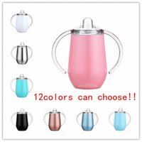 DHL 10oz Stainless Steel Sippy Cup 12 Colour Mugs Double Wall Insulated Hip Flasks Vacuum Sealed Tumblers ZYY