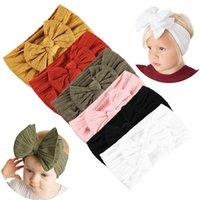 Accesorios para el cabello 6 unids nacidos diademas de nylon arcos súper estirados turbantes anudados para bebés nacidos niños pequeños niños niños # G3