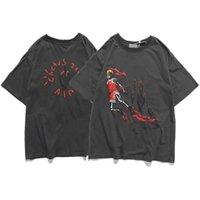 2021 Designer Travis Scott Astronaut Schiuma Stampa Tira TSHirtp Thunderbolt T-shirt manica corta