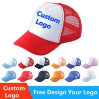 Cappelli da camionista semplici per adulti uomini donne estate 5 pannelli vuoti visiera sole visiera maglia cappello da baseball regolabile snapback cappello personalizzato