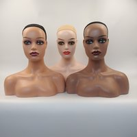 PE Material Wig Stand Double Shoulder Mannequin Manikin Head for Glasses,Hat etc display