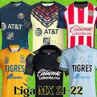 Tamanho grande: XXXL 21 22 22 Club América Futebol Jerseys Uanl Tigres 2021 2022 Chivas Guadalajara MX Liga Camisa de Futebol Maillots de pé