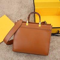 Designer Handtaschen Umhängetaschen Hochwertige Einkaufstasche Ledermaterial Bernstein Doppelgriff Großer Kapazitätsbrief