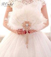 Ostrich feather fan, bridal bouquet, luxury decoration, fan, alternative, ivory, big Gatsby, wedding bouquet brooch J0529