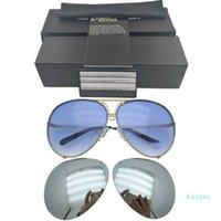 포르쉐 디자인 브랜드 P 8478 Sunglasse 교체 용 렌즈 반사 여성 거울 태양 안경 타원형 남성 상호 교환 가능한 렌즈 선글라스