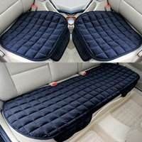 Car Seat Cover Set Luxury Front Rear Flocking Cloth Cushion Non Slide Winter Auto Protector Mat Pad Keep Warm Universal Fit Truck Suv Van For Four Seasons