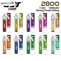 원래 GST CHAM 일회용 포드 장치 2800puffs vape 펜 장치 1250mAh 배터리 7.5ml 휴대용 vape 스틱 100 % 정통