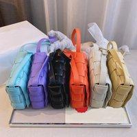 2021 luxus designer handtasche umhängetaschen frauen mode umhängetasche freizeit temperament fild geplated plaid gewebt kuh leder kissen