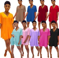 Women Short Outfits Tracksuit Summer Clothing Shorts V neck 2 Piece Set Plus Size Suit Printed T-shirt Casual Gym Suit