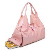 Souper le nouveau sac de gymnastique imperméable avec un compartiment à chaussures en nylon de voyage pour femme Sacs à main BANDBOY BIG MINI YOGA mat pour femme 2019 Y0721