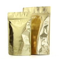 Wholesale Glossy Gold Stand up Aluminum Foil Bag Snack Cookie Tea Coffee Packaging Bag Doypack Gold Foil Zipper Pouches Factory price expert design Quality Latest