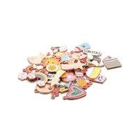 매력 4pcs / 세트 사랑 케이크 모양 합금 펜던트 키 체인 DIY 쥬얼리를위한 작은 pandant 공예 액세서리 결과 만들기