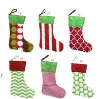 Designs Natale stoccaggio ricamato personalizzato stoccaggio regalo sacchetto di regalo albero Xmas albero caramelle ornamento famiglia vacanza calza NHB6224