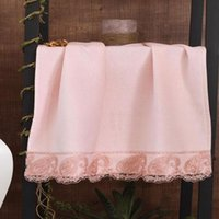 Towel 2021 Season Unisex 50x90CM 100% Cotton Fabric Lacy Bath Large Face For Home Wedding World Stylish Design