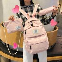 JULYCCINO Women Waterproof Nylon Backpack Female Large capacity Travel Bag Korean Vintage girl Shoulder Bags schoolbag Mochila 211025