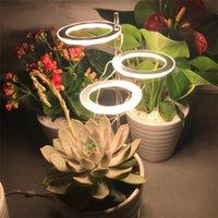 Angel Three Ring Grow Light DC5V USB Phytolamp Plants Led Full Spectrum Lamp For Indoor Plant Seedlings Home Flower Succulet