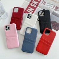 Mode Läder Telefon Väska Plånbok för iPhone 12 11 Pro Max XR XSMAX X XS 7P / 8P7 / 8 / Högkvalitativa designers Litchi Pattern Card Cover Case 6-Färg