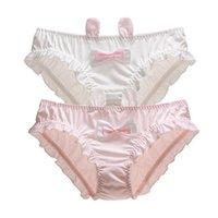 Women's Panties Womens Bikini Japanese Lingerie Briefs Kawaii Cosplay Underwear Ears Panty Girls Lolita Cat Underpants