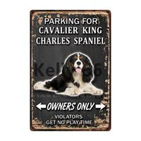 Dogs Parking For Border Collie Chihuahua Metal Sign Tin Poster Home Decor Bar Wall Art Painting 20*30 CM Size Dy107