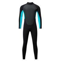 Costumi da bagno da uomo Muta, 3mm Neoprene Wetsuit a maniche lunghe maniche lunghe tute con schienale con cerniera protettiva UV piens corpo per nuoto immersioni surfing kayak snorkeling