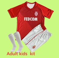Adulto Kids Kit 21 22as Monaco Monaco Jerseys 2021 2022 Camisa de Futebol Keita Balde Ben Yedder Gelson Fabreags Golovin Maillots de pé