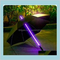Umbrellas Household Sundries Home & Garden 10Pcs Lot Cool Blade Runner Light Saber Led Flash Umbrella Rose Bottle Flashlight Night Wal