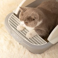 2021 Kedi Çöp Kediler Yuva Kutusu Sayılabilir Kapak Kedi Tuvalet Sıçrayan Pat Tam Kapalı Kedi Çöp Kutusu Pet Malzemeleri Ev GGA5070