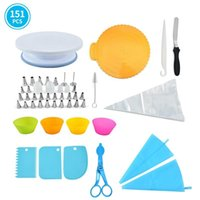 Baking & Pastry Tools 151pcs set Cake Decorating Turntable Set Kit Party Kitchen Gadget Sets Dessert Supplies