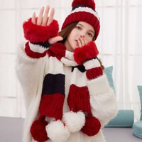2021 new autumn and winter cold proof hat scarf gloves three piece set fashionable outdoor warm keeping LT21