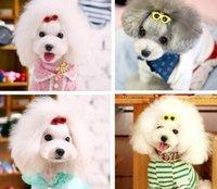 Pet Sunglasses Hairpin Headdress Plastic Small Dog Hair Clip Puppy Head Flower Headdress Dogs Love Heart hair accessories dff2355