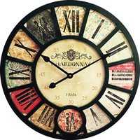 Wall Clocks Vintage Clock Living Room Hanging Nordic Large Wooden Kitchen Barbearia Watch Home Woonkamer Decoratie 60ZB048