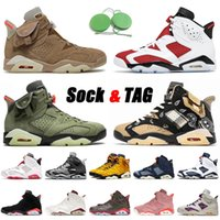 nike air jordan retro 6 6s Top Quality 2021 Jumpman Chaussures de basket Carmine British Khaki Travis Cactus Jack Hommes Femmes Quai Olympic Trainers Sneakers EUR 36-47