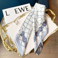 Square Horse Imprimer Echarpe Fauche Châles Foulard Fleur Fleur de Soie Twill 53 * 53cm sans boîte C415