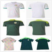 20 21 África Copa de África Senegal Jersey 10 Mane Koulibaly Gueye Kouyate Ciss Sarr Custom Home Away White White Shirt Maillot de Pie