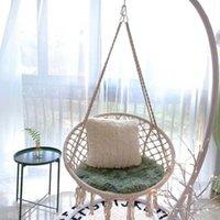Северный стиль круглый гамак открытый крытый общежитие спальня подвесные стул для ребенка взрослый качается одиночная безопасность белые игры деятельности