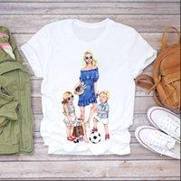 Zogankin karikatür süper anne hayat womens t shirt erkek kız yaz baskı grafik kadın tee
