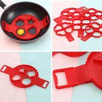 Silicone Pancakes Heart Mold Egg Pancake Mold Non-stick Four Holes DIY Baking Pancakes Tool Kitchen Accessories NHE6650