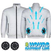 Vestes pour hommes Climatisation Vêtements Été 3 Vitesse Ventilateur de refroidissement Cool Down Down Soudage Protection du travail Sans manches amovibles
