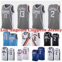 "2 леонард Лос-Анджелес ""Клишки"" Баскетбол трикотажные изделия синий черный белый Paul 13 Джордж Джерси NCAA 2021 МУЖЧИНЫ МОЛОДЕЖНЫЕ МОЛОДЕЖИ"