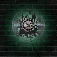 Wall Clock In Creative CD Record Modern Design World Watch Classic Relogio De Parede Desk & Table Clocks