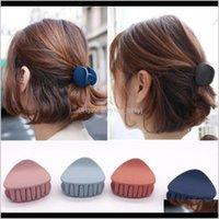 Chegada Pins Corean Moda Design Mulheres Clip Clip Garra Hairpin Cor Sólida Caranguejo Retro Square Scrub Ojdem Ovh3w