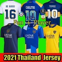 Boca Juniors Maradona 2021 Cabj Soccer Jersey 20 21 Benedetto Gago Osvaldo de Rossi Tevez Pavon JRS Sports Football Shirts Men + Kids