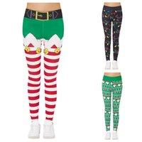 Women's Leggings 3d Funny Print Womens Custom Christmas Snowman Snowflake Stretchy Skinny Pants For Sport Legging Femme