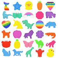 Arco-íris Pop Pop Bubble Sensory Fidget Brinquedo, Autismo Especial Precisa Stress Reliever Ansiety Relief Toys For Kids Festa de Aniversário Presentes