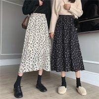 Skirts Midi Y2k Harajuku Skirt Goth Punk High Waist Floral Streetwear Patchwork A Line Women Party Club Wear High-waisted